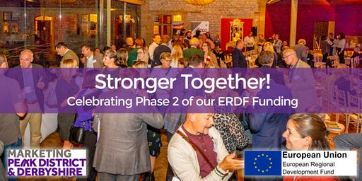 Stronger Together! Celebrating Phase 2 of our ERDF funding
