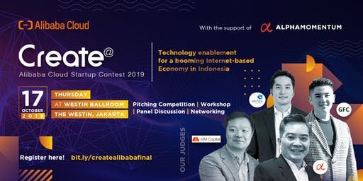 Create 2019 | Alibaba Cloud Startup Contest - Final Round in Indonesia