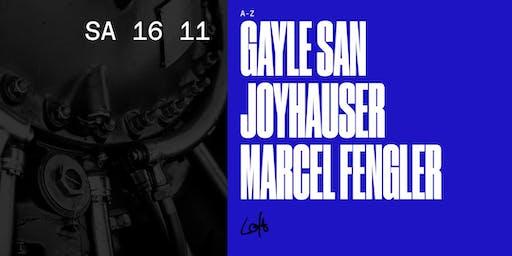 Gayle San, Joyhauser, Marcel Fengler im Loft