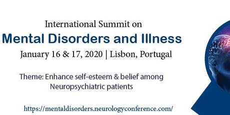 International Summit on Mental Disorders and Illness bilhetes