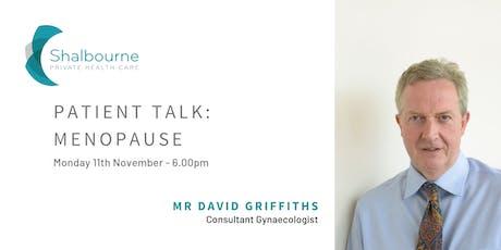 Patient Talk : Menopause tickets