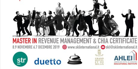 MASTER IN REVENUE MANAGEMENT & CHIA CERTIFICATE 2019 biglietti