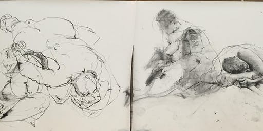 Life drawing workshop with Artist Kirsty Whiten and model: Forgan Arts