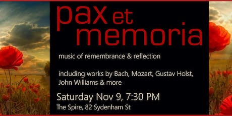 Pax et Memoria: Music of Remembrance and Reflection tickets