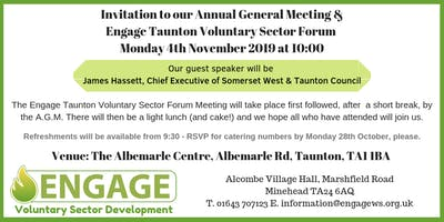 Engage Annual General Meeting & Taunton Voluntary Sector Forum