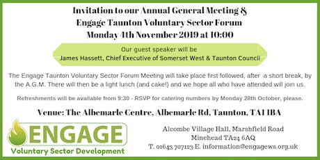 Engage Annual General Meeting & Taunton Voluntary Sector Forum tickets
