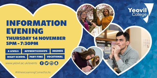 Yeovil College Information Evening - November 2019