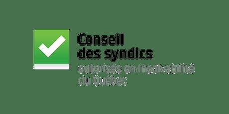 Colloque  annuel du Conseil des syndics - 13 novembre 2019 - Montréal tickets