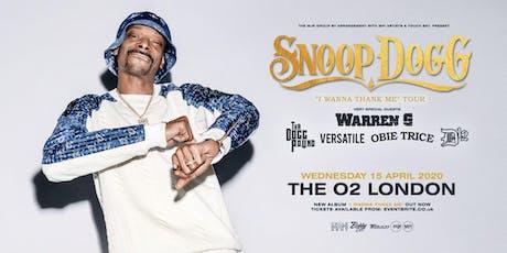 "Snoop Dogg - ""I Wanna Thank Me"" Tour (The O2, London) tickets"