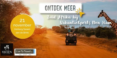 Inspiratieavond Zuid Afrika met Winetasting en Afrikaanse hapjes tickets