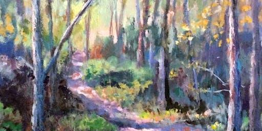 Impressionistic Landscape Painting & Palette Knife