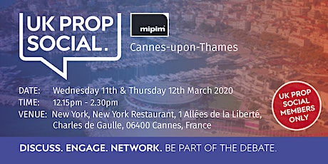 MIPIM Cannes-upon-Thames tickets
