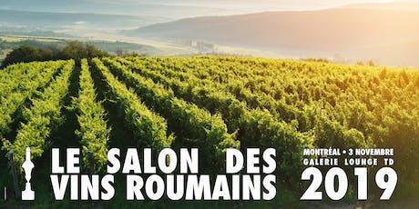 Le Salon des Vins Roumains - 3 Novembre 2019 Montréal billets