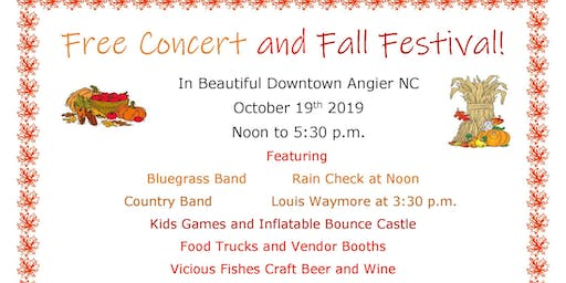 Fall Festival and Free Concert