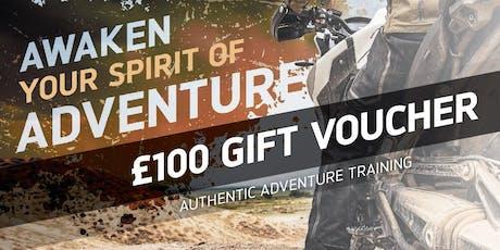 £100 Adventure Experience Gift Voucher tickets