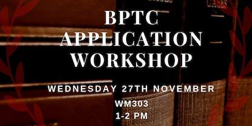 BPTC APPLICATION WORKSHOP (LAW FINAL YEAR)