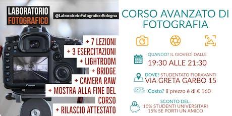 Corso Avanzato di Fotografia biglietti