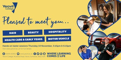 Pleased to meet you taster sessions