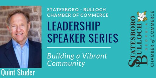 Leadership Speaker Series:Building a Vibrant Community