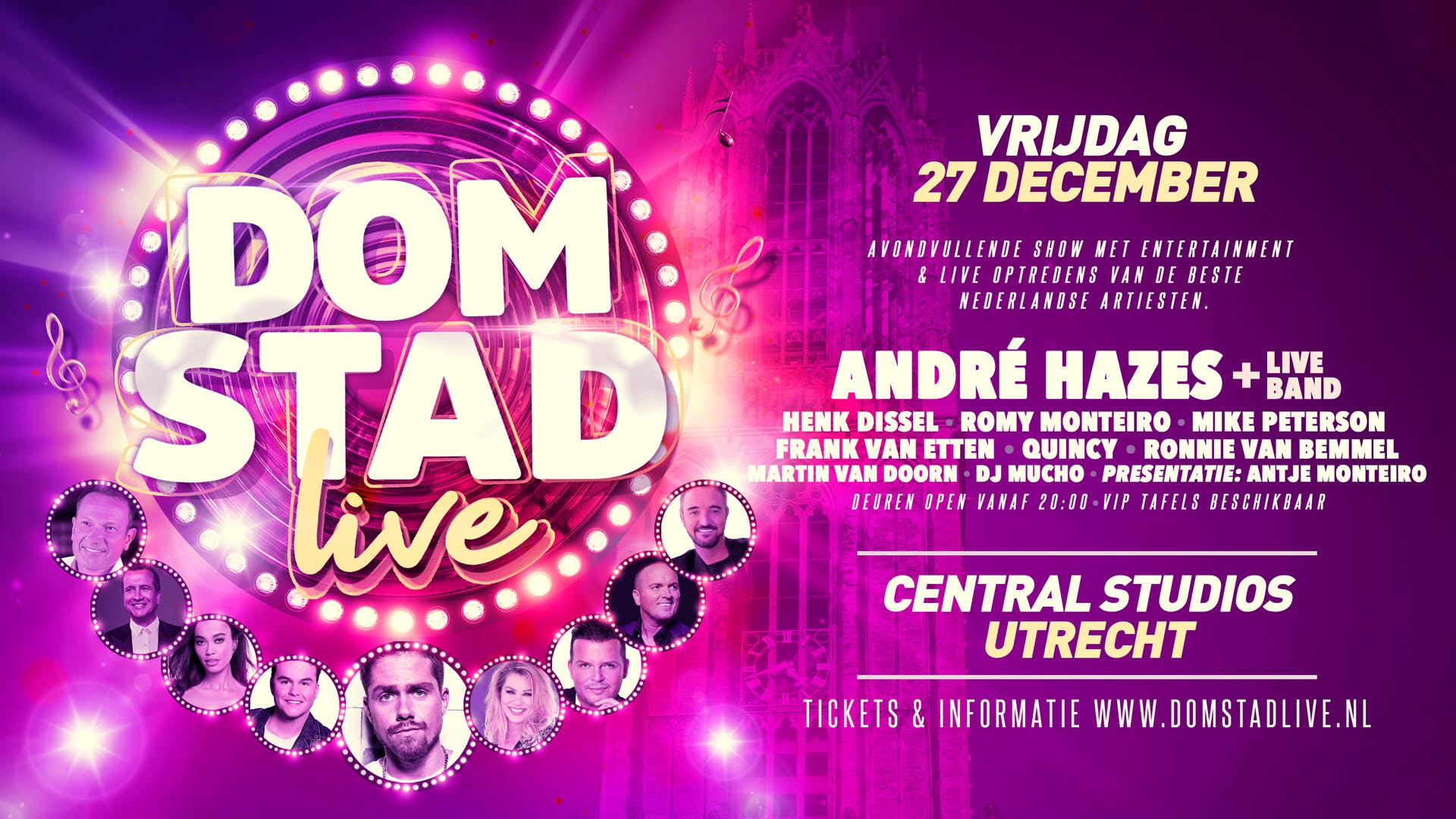 Domstad Live Central Studios Utrecht December 27 To December 28 Allevents In