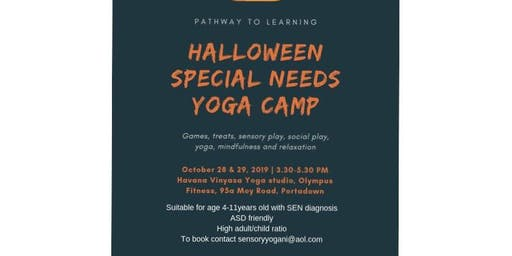 Halloween Sensory Yoga Camp for special needs