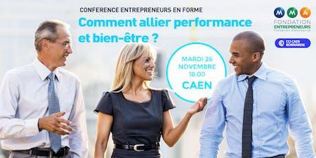 Conférence Entrepreneurs en Forme - Comment allier performance et bien-être billets