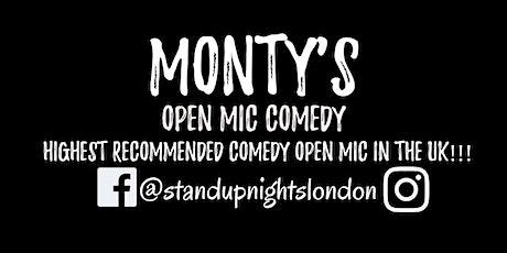 Monty's Open Mic Comedy tickets