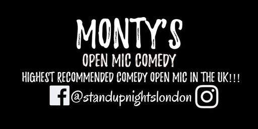Monty's Open Mic Comedy