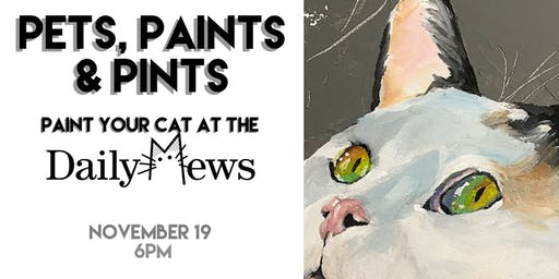 Pets, Paints & Pints at the Daily Mews