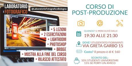 Corso di post-produzione fotografia digitale biglietti