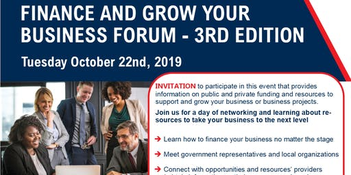 Finance & Grow Your Business Forum  (3rd Edition)