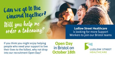 Bristol Recruitment Open Day for Support Workers