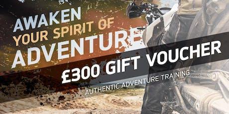 £300 Adventure Experience Gift Voucher tickets