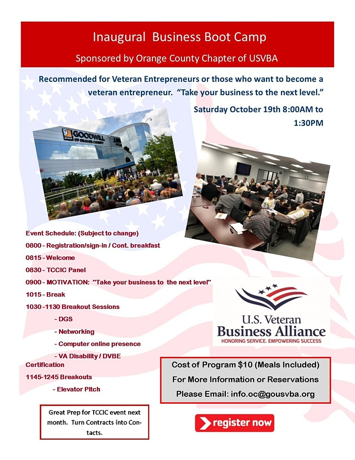 USVBA Orange County Chapter - Business Boot Camp image