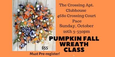 Pumpkin Wreath Class
