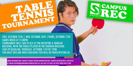 Singles Table Tennis Tournament tickets