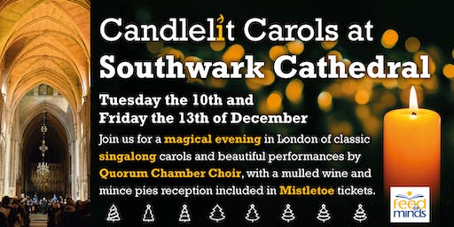 Candlelit Carols at Southwark Cathedral 10/12/19