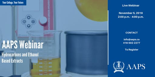 Hydrocarbons and Ethanol Based Extracts (Live Webinar)