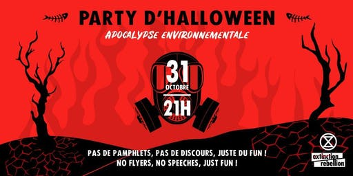 Party Halloween d'Extinction Rébellion