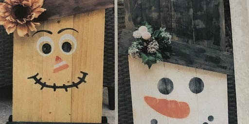 Paint Your Own Scarecrow and Snowman