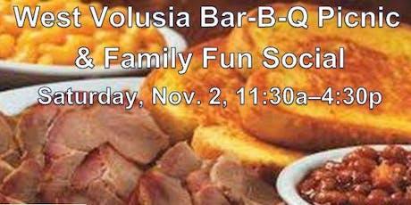 West Volusia Bar-B-Q Picnic and Social, NOV. 2, 2019, 11:30a-4:30p tickets