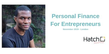 Personal Finance For Entrepreneurs - London - november 2019 tickets