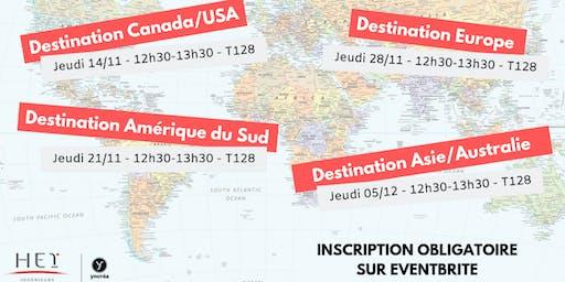 Présentation séjour d'études à l'étranger - Zone Amérique du Nord