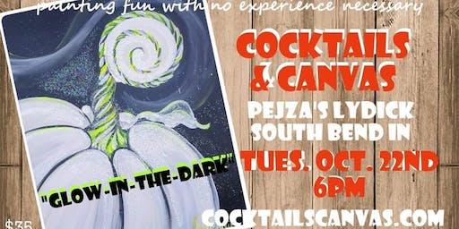 "Cocktails & Canvas ""Glowing Pumpkin"""