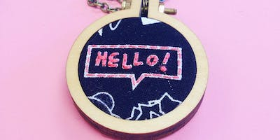 Mini Embroidered Necklace Class with Kit