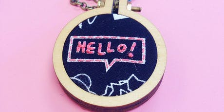 Mini Embroidered Necklace Class with Kit tickets