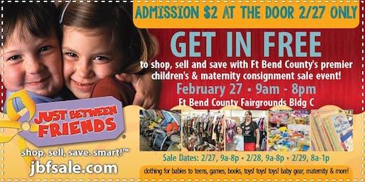 Sugar Land JBF Spring 2020 Huge Kids/Maternity Event: Public Sale Pass