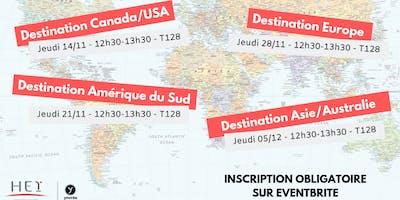 Présentation séjour d'études à l'étranger - Zone Amérique du Sud