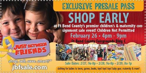 Sugar Land JBF Spring 2020 Huge Kids/Maternity Event: Exclusive FREE PreSale Pass