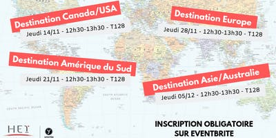 Présentation séjour d'études à l'étranger - Zone Europe